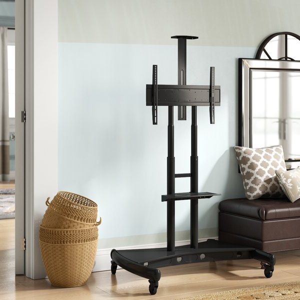 Randal Symple Stuff Black Swivel Floor Tv Stands With Shelving With Fashionable Symple Stuff West Harptree Black Swivel Floor Stand Mount (View 25 of 25)