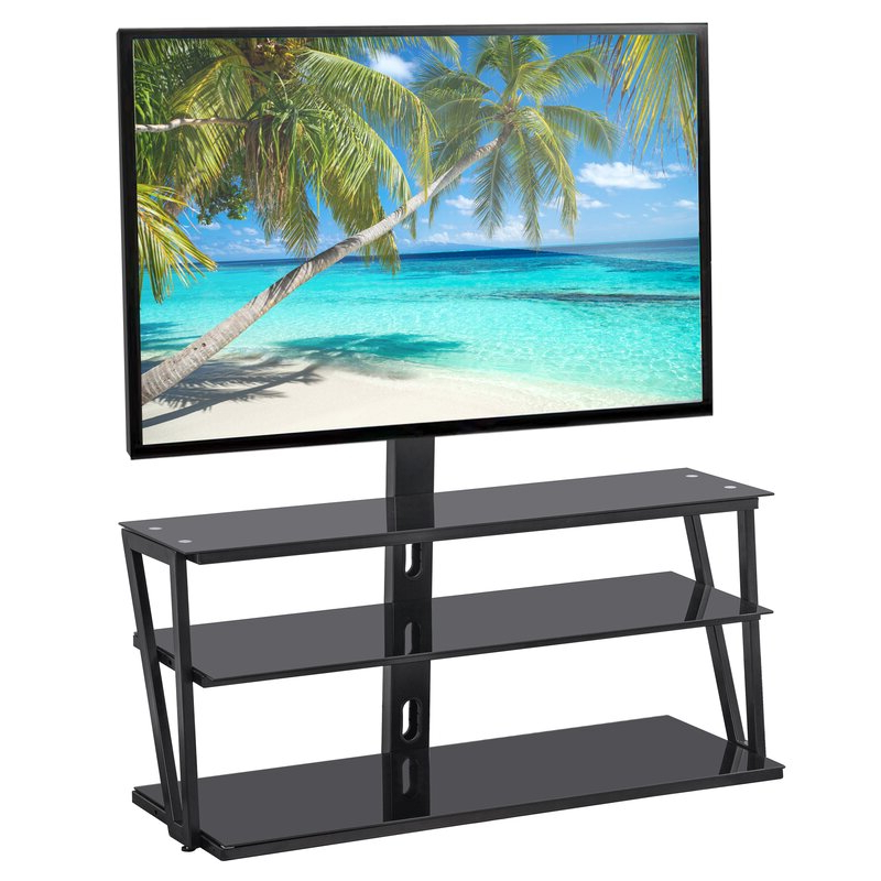 Randal Symple Stuff Black Swivel Floor Tv Stands With Shelving Within Most Up To Date Symple Stuff Burcham Symple Stuff Black Swivel Floor Stand (View 8 of 25)