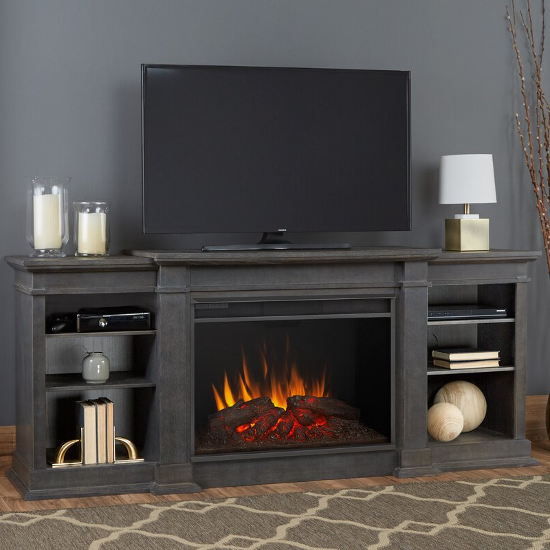 """Real Flame Tv Stand For Tvs Up To 88"""" With Electric Pertaining To Most Current Gosnold Tv Stands For Tvs Up To 88"""" (View 22 of 25)"""