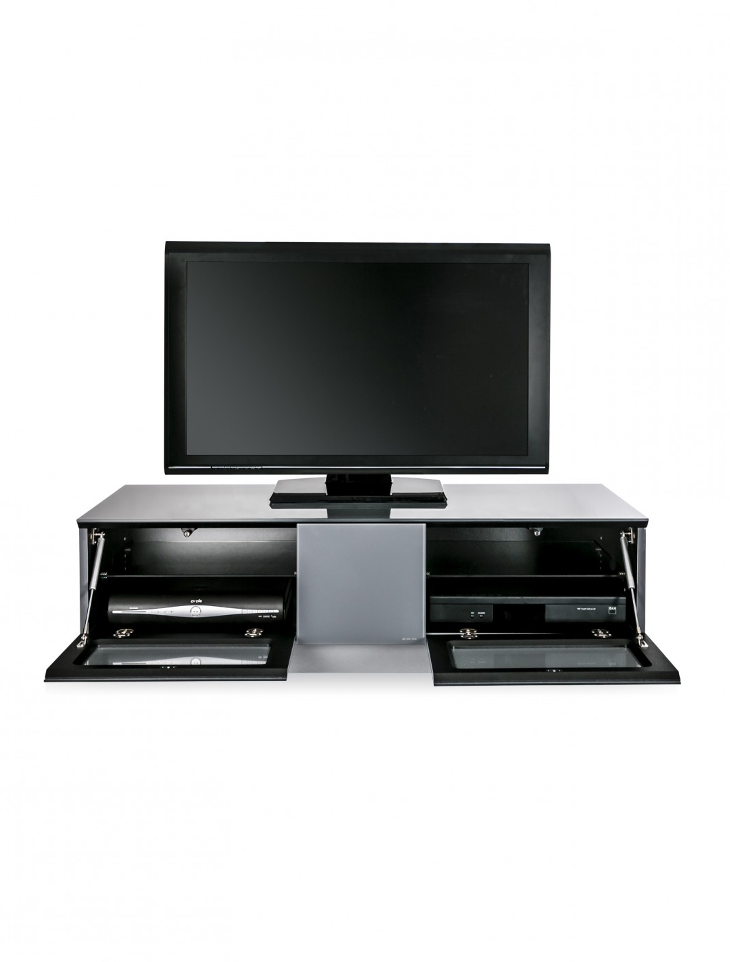 Recent 57'' Tv Stands With Open Glass Shelves Gray & Black Finsh Intended For Tv Stand Element Modular Emtmod1250 Gry Tv Cabinet (View 8 of 10)