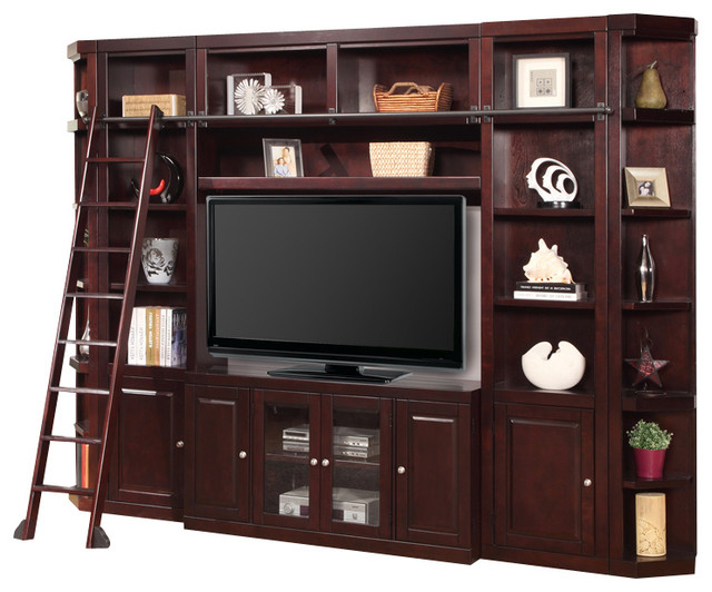 Recent 6 Piece Boston Space Saver Entertainment Center, Merlot Throughout Boston Tv Stands (View 8 of 10)