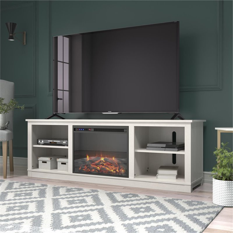 """Recent Ameriwood Home Edgewood Fireplace Tv Stand Up To 75"""" In With Chrissy Tv Stands For Tvs Up To 75"""" (View 7 of 25)"""