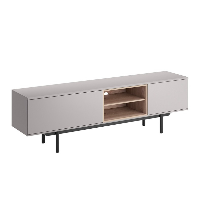 """Recent Bmf """"inox"""" Tv Stand 175cm Wide Light Grey Jackson Hickory Throughout Fulton Oak Effect Wide Tv Stands (View 9 of 10)"""