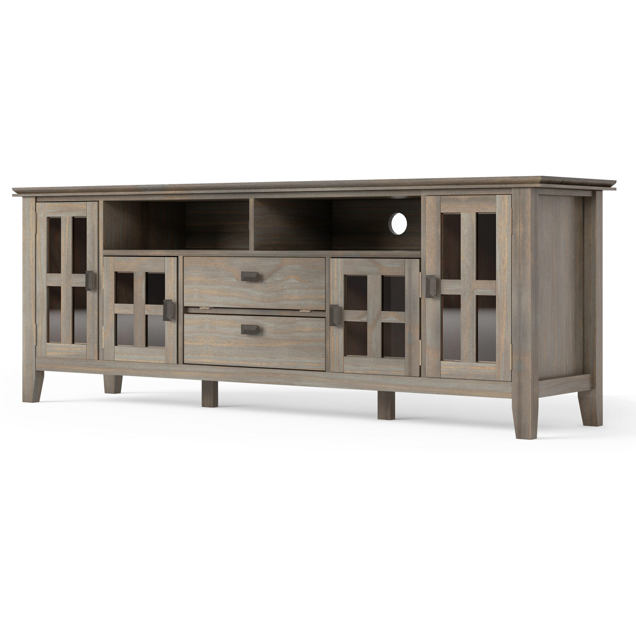 Recent Bromley Extra Wide Oak Tv Stands Inside Artisan Solid Wood 72 Inch Wide Contemporary Tv Media (View 4 of 25)