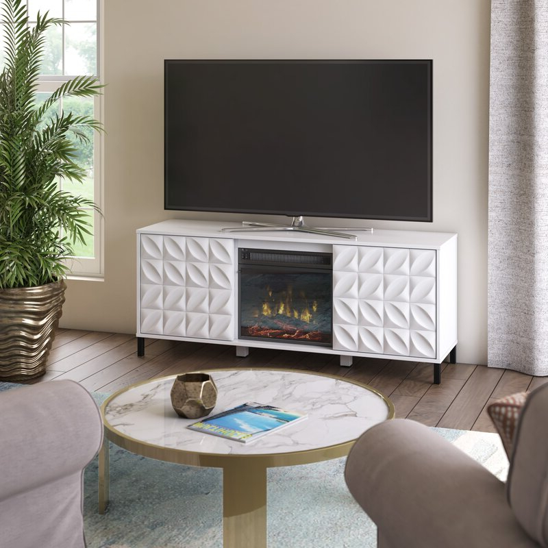 """Recent Caleah Tv Stands For Tvs Up To 65"""" Inside Ebern Designs Mitchellville Tv Stand For Tvs Up To  (View 7 of 25)"""
