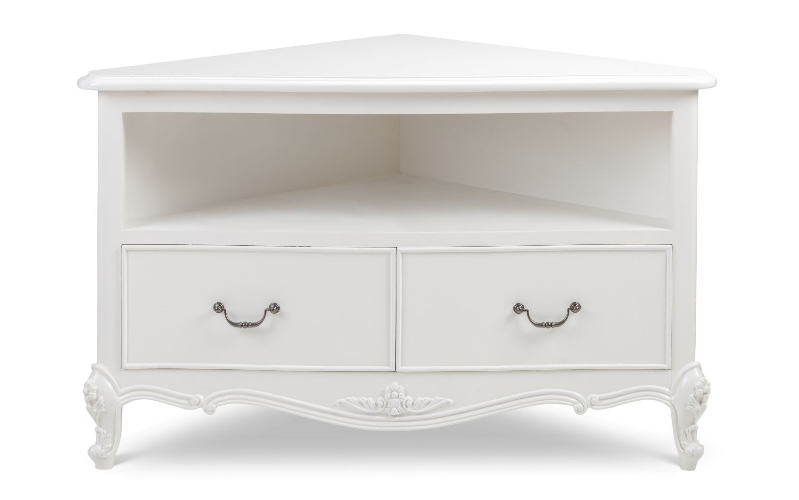 Recent Compton Ivory Corner Tv Stands In Ivory French Corner Tv Unit – Crown French Furniture (View 11 of 25)