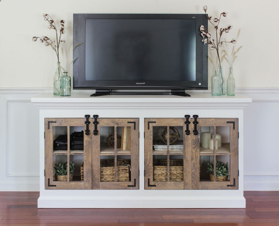 Recent Diy Convertible Tv Stands And Bookcase Throughout 11 Free Diy Tv Stand Plans You Can Build Right Now (View 8 of 10)
