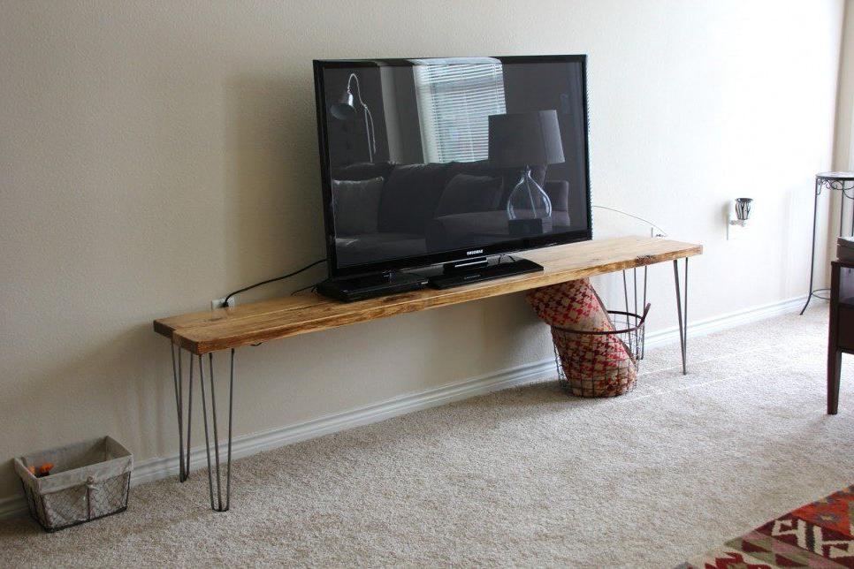 Recent Furniture, Cool Diy Narrow Wood Industrial Tv Stands With In Industrial Tv Stands With Metal Legs Rustic Brown (View 1 of 10)