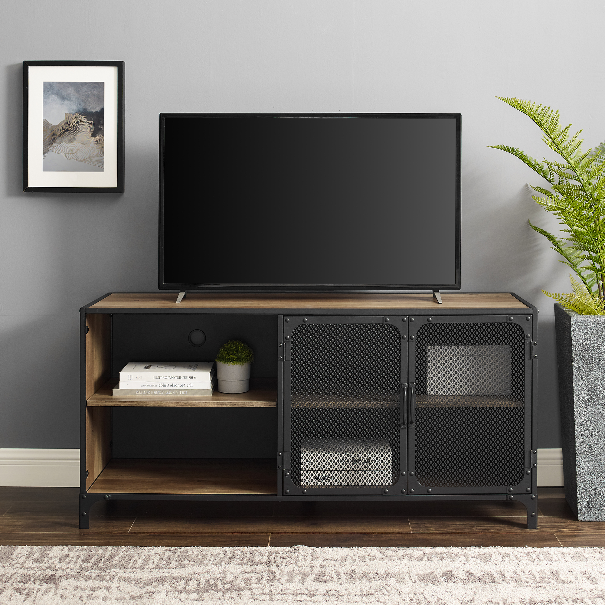 """Recent Kamari Tv Stands For Tvs Up To 58"""" Regarding Manor Park Industrial Tv Stand For Tvs Up To  (View 2 of 25)"""