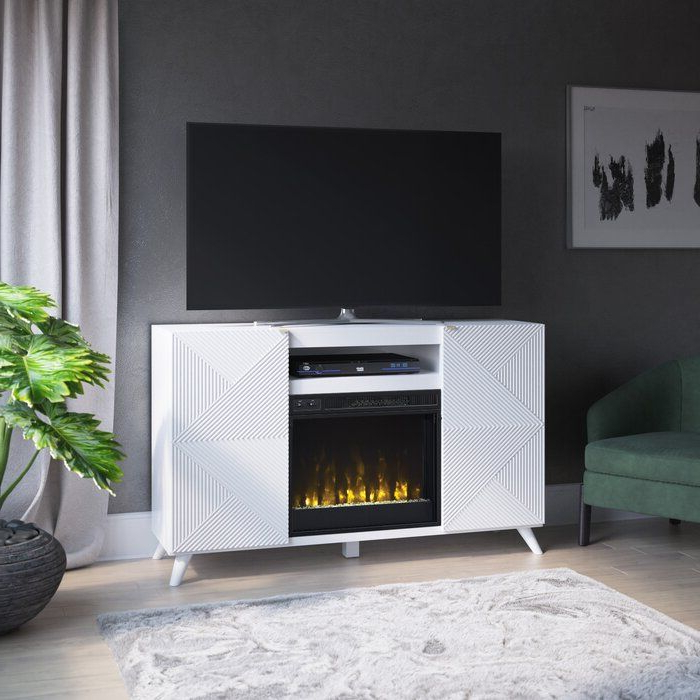 """Recent Margulies Tv Stands For Tvs Up To 60"""" Intended For Halvorsen Tv Stand For Tvs Up To 65"""" With Fireplace (View 7 of 25)"""