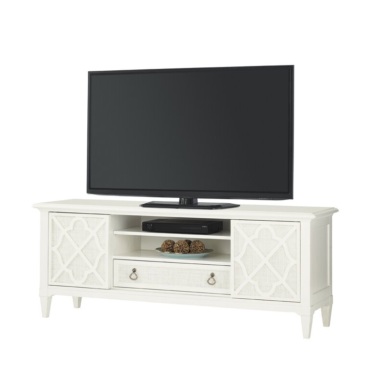"""Recent Miconia Solid Wood Tv Stands For Tvs Up To 70"""" Inside Tommy Bahama Home Ivory Key Solid Wood Tv Stand For Tvs Up (View 5 of 25)"""