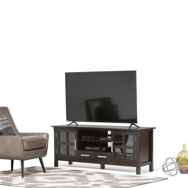 """Recent Shop Wyndenhall Waterloo Solid Wood 60 Inch Wide With Solid Wood Tv Stands For Tvs Up To 65"""" (View 11 of 25)"""