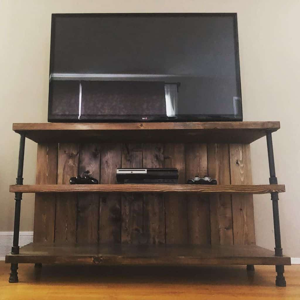 Reclaimed Rustic Tv Stand With Steel (by (View 7 of 10)