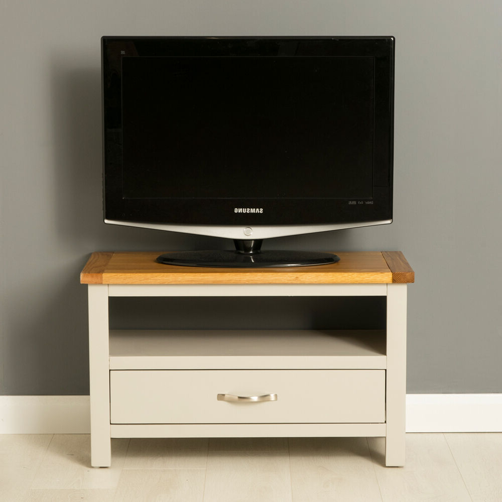 Richmond Tv Unit Stands Intended For Favorite Mullion Painted Small Tv Stand / Small Oak Tv Unit (View 4 of 10)