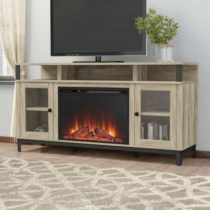 """Rickard Tv Stands For Tvs Up To 65"""" With Fireplace Included Pertaining To Most Recent Gracie Oaks Mastrangelo Tv Stand For Tvs Up To 65"""" With (View 16 of 25)"""