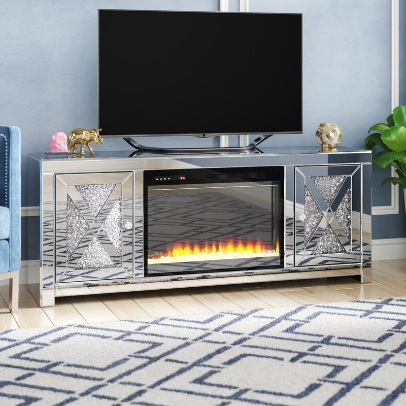"""Rosdorf Park Abe Tv Stand For Tvs Up To 65"""" With Fireplace Regarding Best And Newest Neilsen Tv Stands For Tvs Up To 65"""" (View 24 of 25)"""