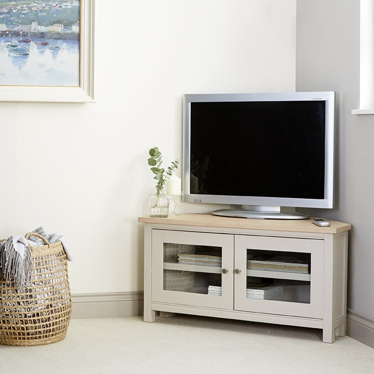Rushbury Painted Corner Tv Unit Was £449.00 Now £ (View 5 of 10)