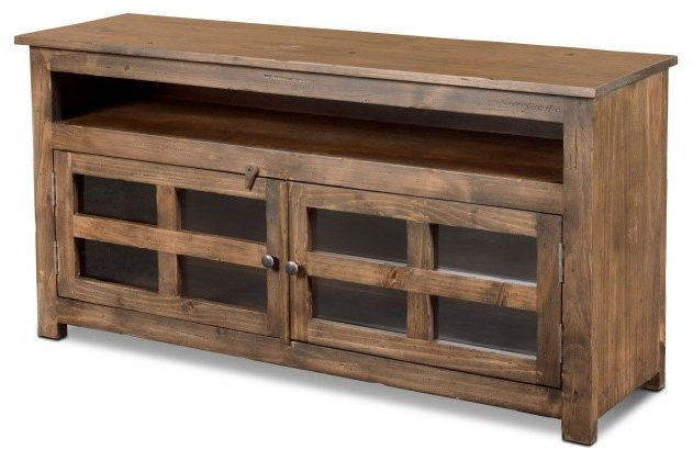 Rustic Country Tv Stands In Weathered Pine Finish In Best And Newest Crafters And Weavers Distressed Rustic Style 55 Inch Wide (View 10 of 10)