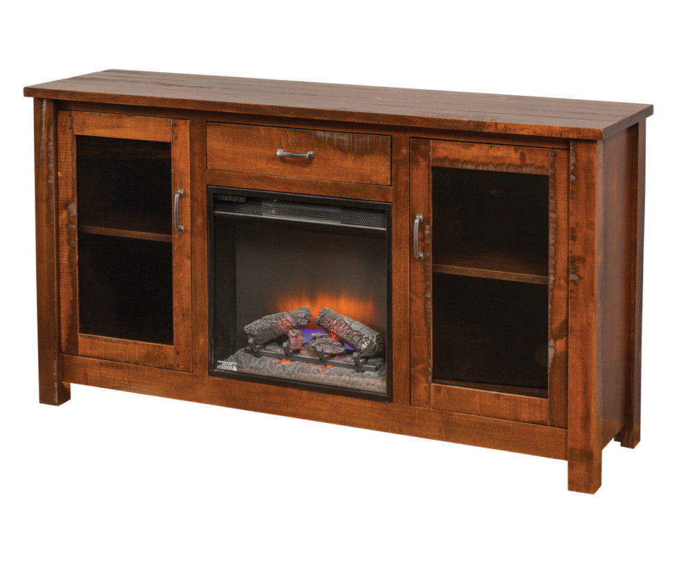 Rustic Fireplace Tv Stand (View 8 of 10)