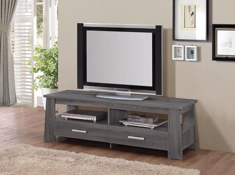 Rustic Grey Tv Stand Media Console Stands For Living Room Bedroom Pertaining To 2018 Gray Rustic Tv Stand Modern Contemporary Living Room Space (View 5 of 10)