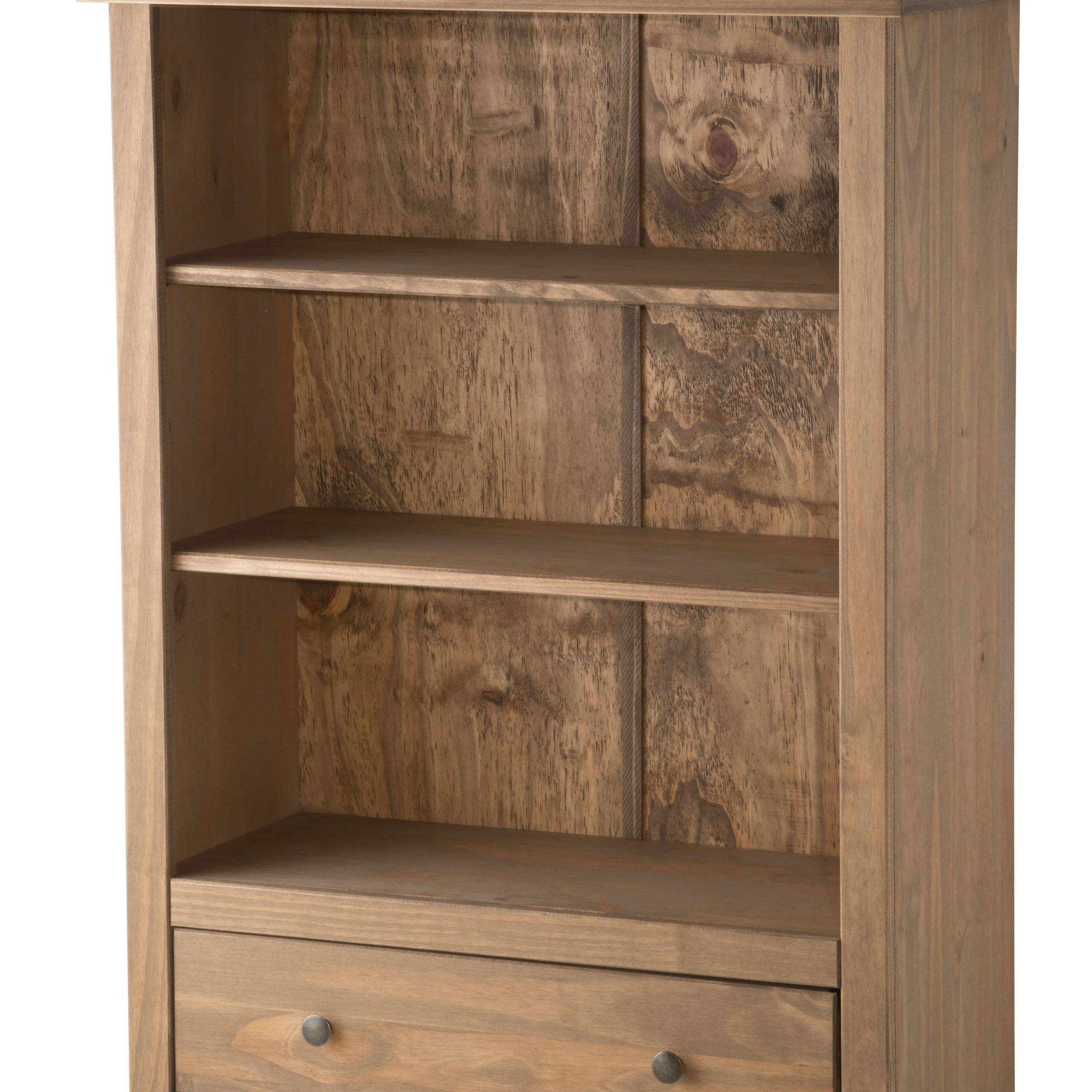 Rustic Wood Santiago 1 Drawer Bookcase – Birlea Furniture For Newest Santiago Tv Stands (View 10 of 10)