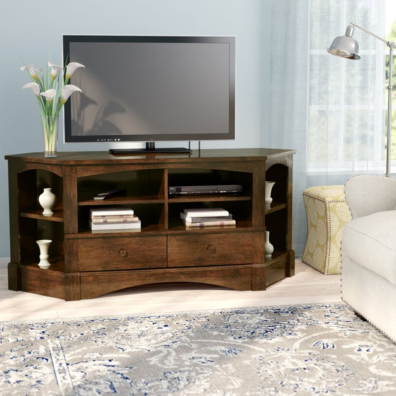 Samira Corner Tv Unit Stands Within Famous Beachcrest Home Pinellas Corner Tv Stand For Tvs Up To  (View 8 of 10)