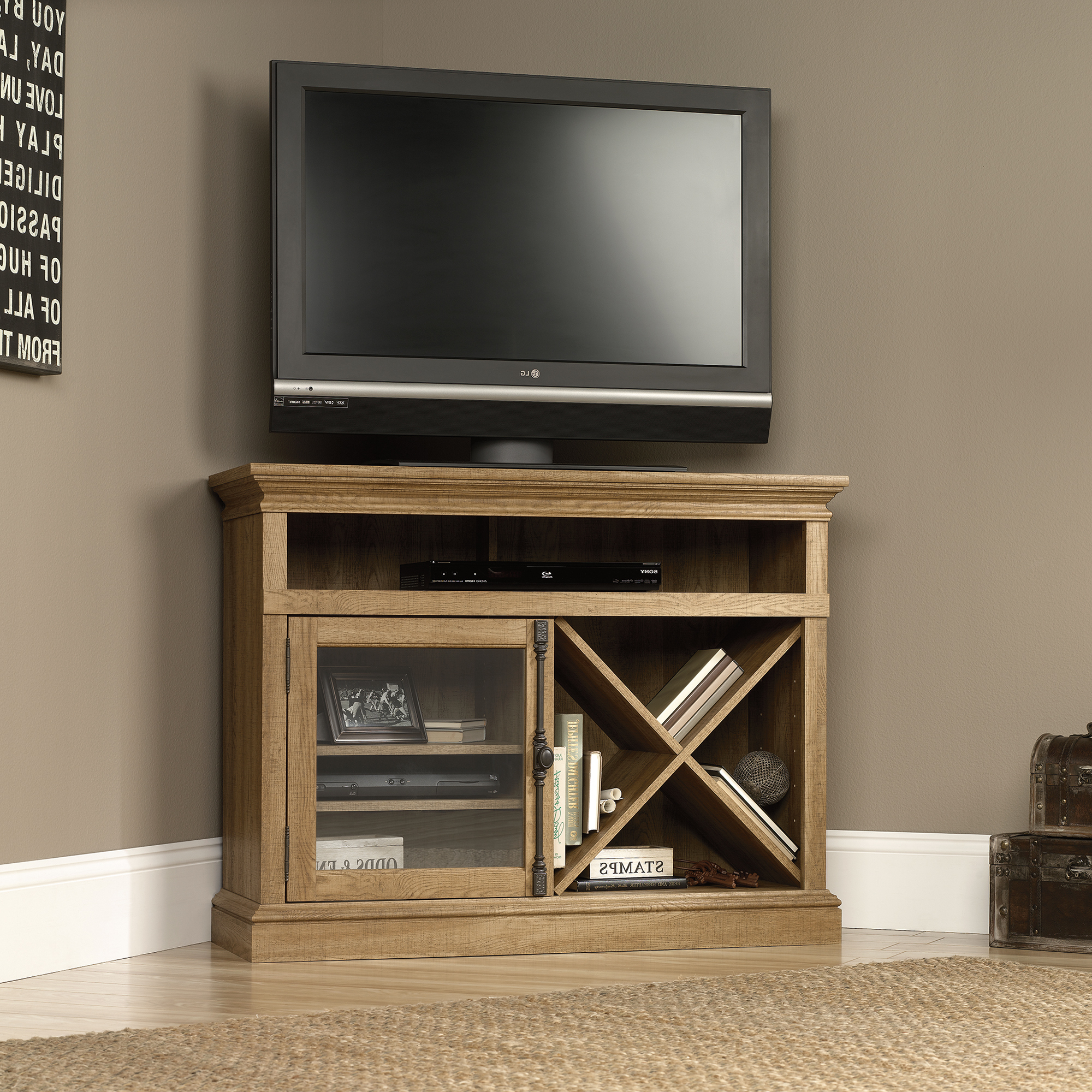 Sauder Corner Tv Stand (414723) – The Furniture Co (View 2 of 16)