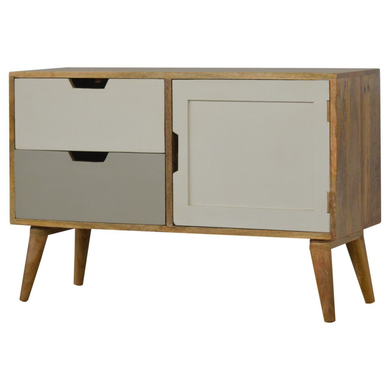 Scandi 2 Drawer White Tv Media Unit Stands Throughout Most Current Artisan Nordic Style Media Unit/tv Unit – 2 Drawers –  (View 2 of 10)