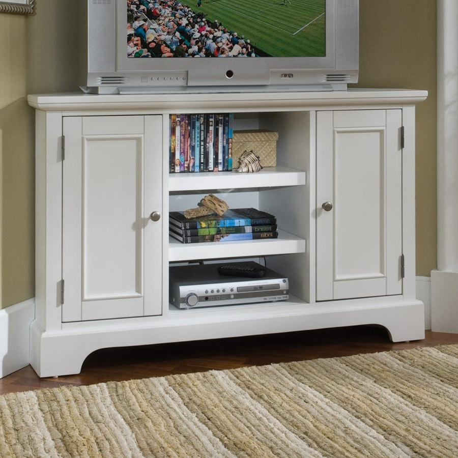 Shop Home Styles Naples White Corner Corner Television Pertaining To Newest Hex Corner Tv Stands (View 23 of 25)
