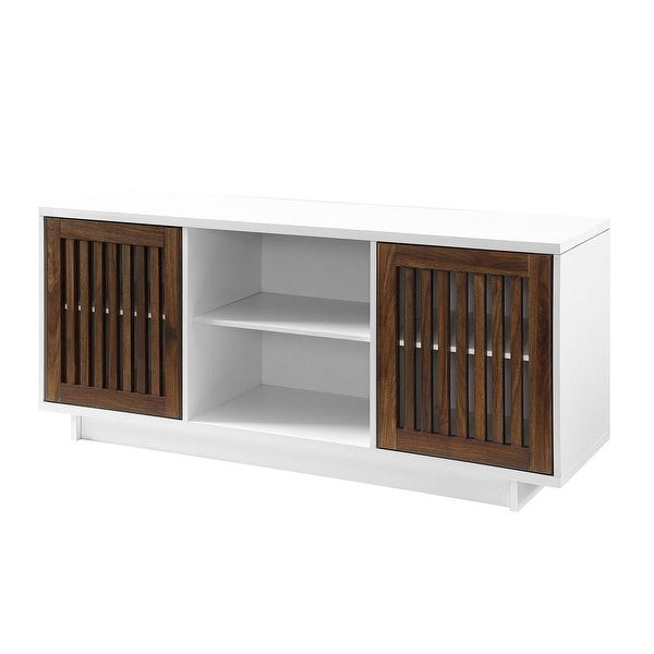 """Shop Offex 56"""" Vertical Slat Door Tv Media Stand Console Pertaining To Recent Martin Svensson Home Barn Door Tv Stands In Multiple Finishes (View 9 of 10)"""