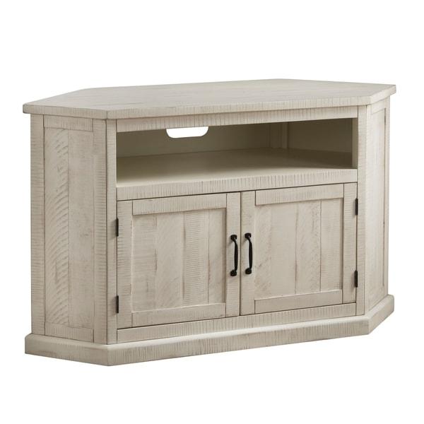 """Shop Rustic Style Wooden Corner Tv Stand With 2 Door Inside Most Current Basie 2 Door Corner Tv Stands For Tvs Up To 55"""" (View 1 of 10)"""