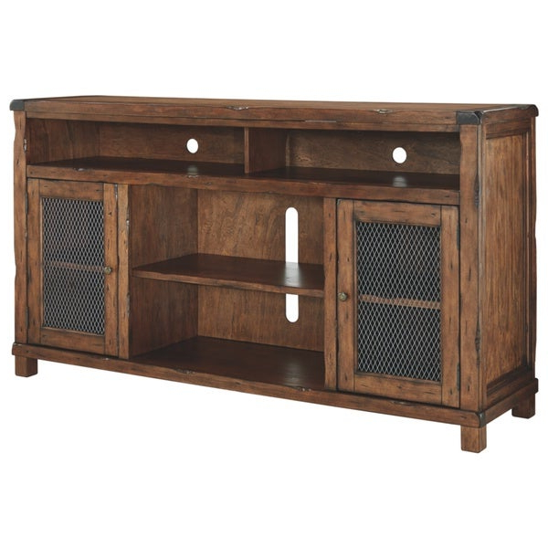 Shop Tamonie Casual Extra Large Tv Stand W/fireplace With Regard To Most Up To Date Modern Farmhouse Fireplace Credenza Tv Stands Rustic Gray Finish (View 10 of 10)