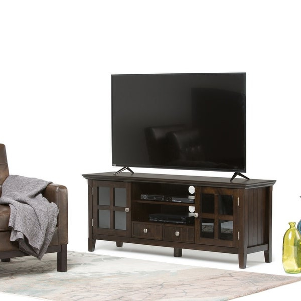 """Shop Wyndenhall Normandy Solid Wood 60 Inch Wide Rustic Tv With Well Known Solid Wood Tv Stands For Tvs Up To 65"""" (View 2 of 25)"""