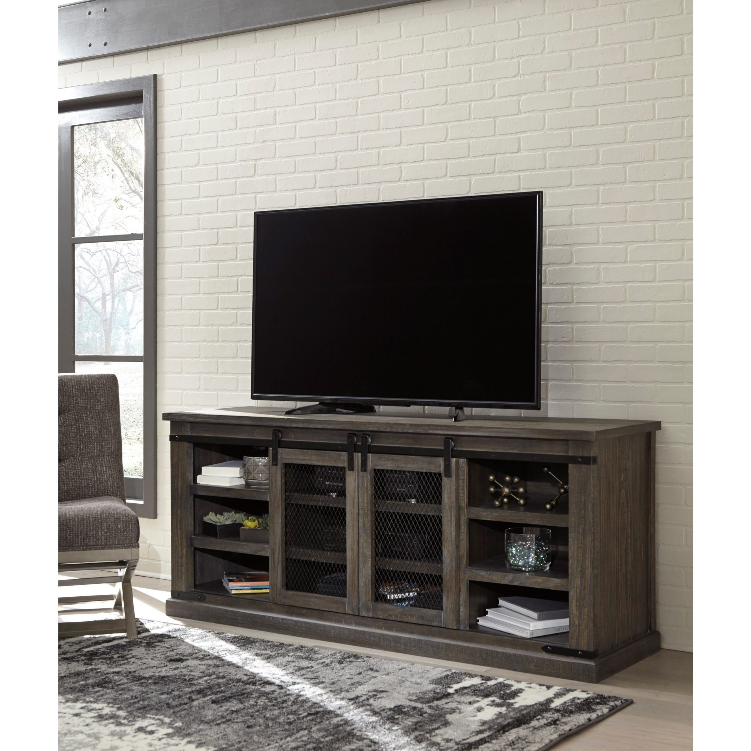 """Signature Designashley Danell Ridge 70"""" Rustic Extra Pertaining To Best And Newest Jackson Corner Tv Stands (View 2 of 25)"""