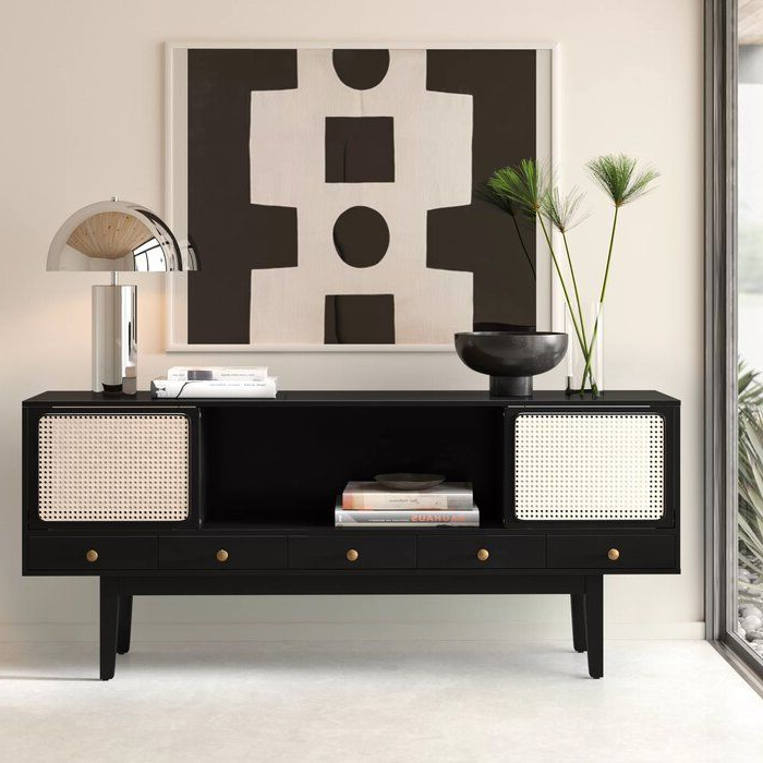 """Solid Wood Tv Stand With Widely Used Mainor Tv Stands For Tvs Up To 70"""" (View 24 of 25)"""