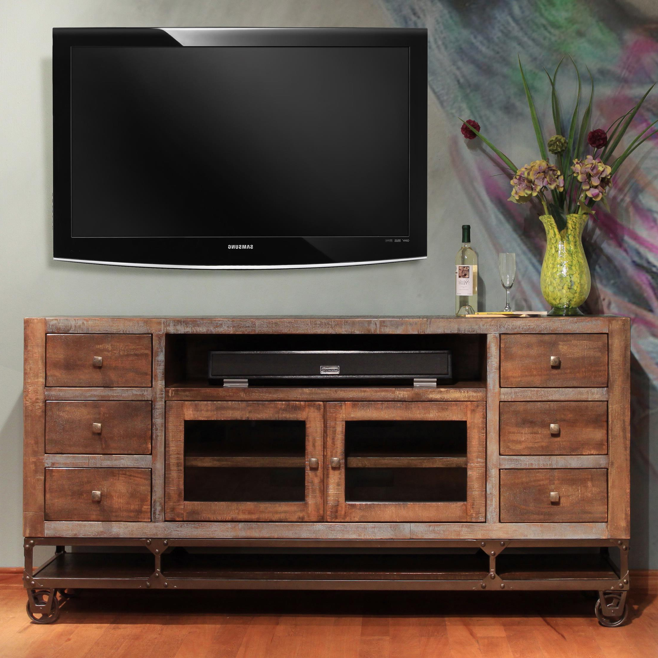 Suburban Inside Fashionable Dillon Tv Stands Oak (View 2 of 10)