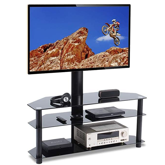 Swivel Floor Tv Stands Height Adjustable Within Trendy Tavr Swivel Floor Tv Stand With Mount 3 In 1 Flat Panel (View 4 of 10)