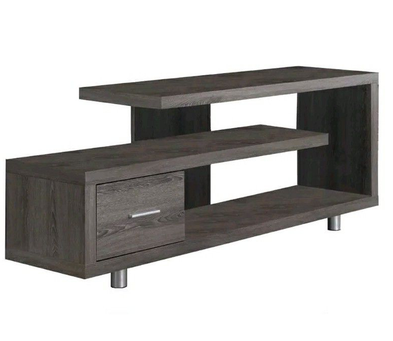 """Taupe Living Room, Tv Stand With Pertaining To Techni Mobili 53"""" Driftwood Tv Stands In Grey (View 1 of 10)"""