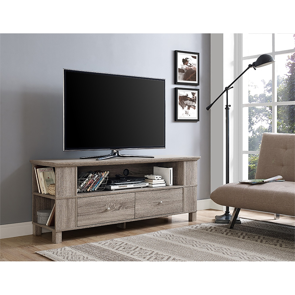 """Techni Mobili 53"""" Driftwood Tv Stands In Grey Intended For Most Recently Released 60"""" Wood Tv Stand – Driftwood (View 3 of 10)"""