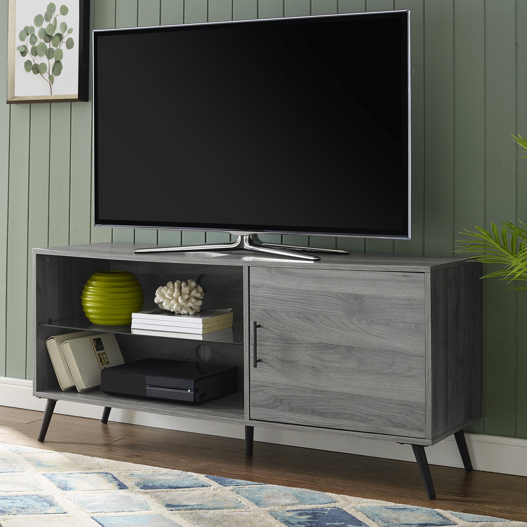 """Thea Slate Grey Tv Stand For Tvs Up To 58""""bellamy Regarding Popular Kamari Tv Stands For Tvs Up To 58"""" (View 9 of 25)"""