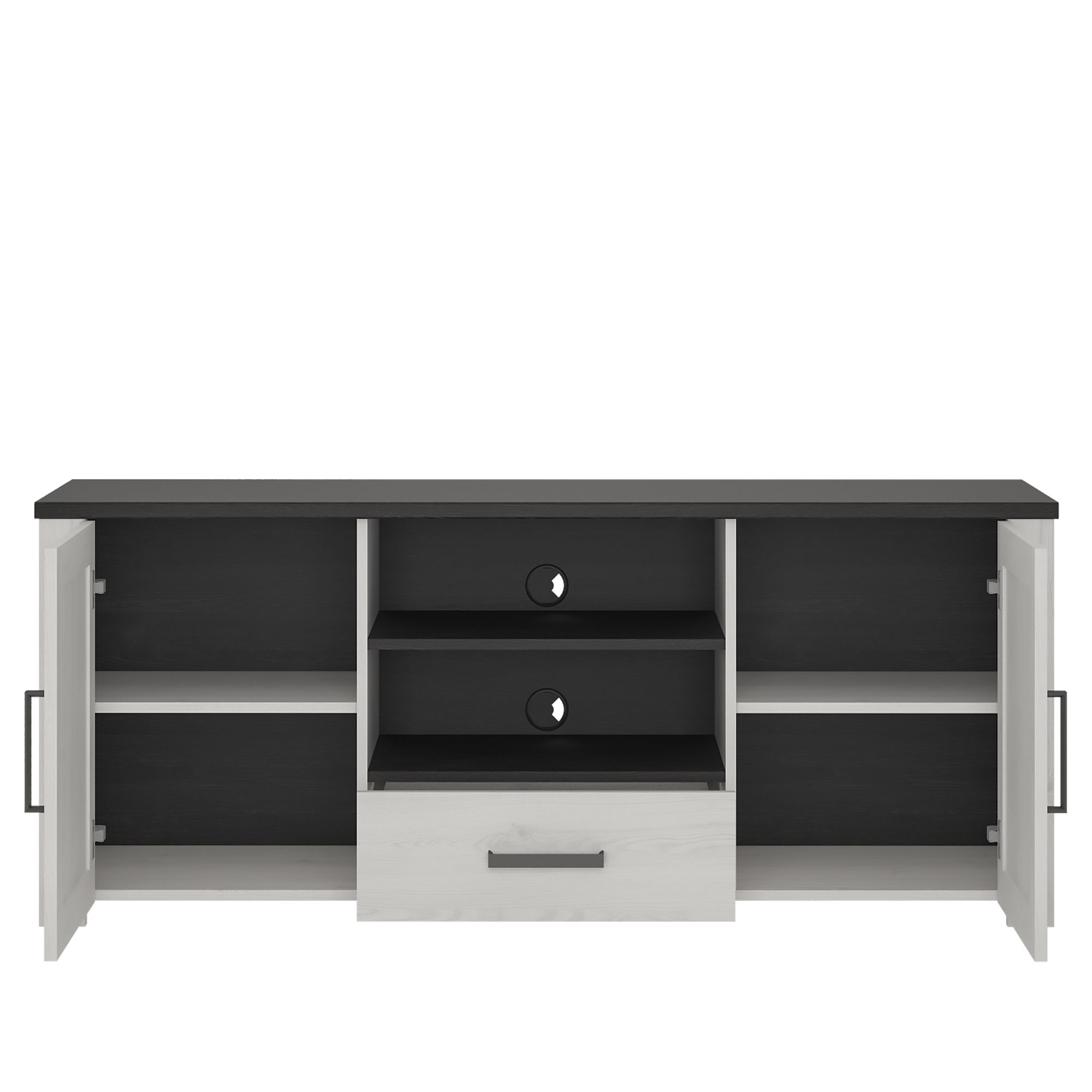 Tiva Ladder Tv Stands Throughout Well Liked Provence High Tv Cabinet 2 Door 1 Drawer (View 2 of 10)