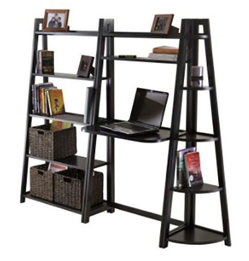 Tiva White Ladder Tv Stands Throughout Fashionable 50 Ladder Shelf Image Ideas – White Leaning Ladder (View 1 of 10)