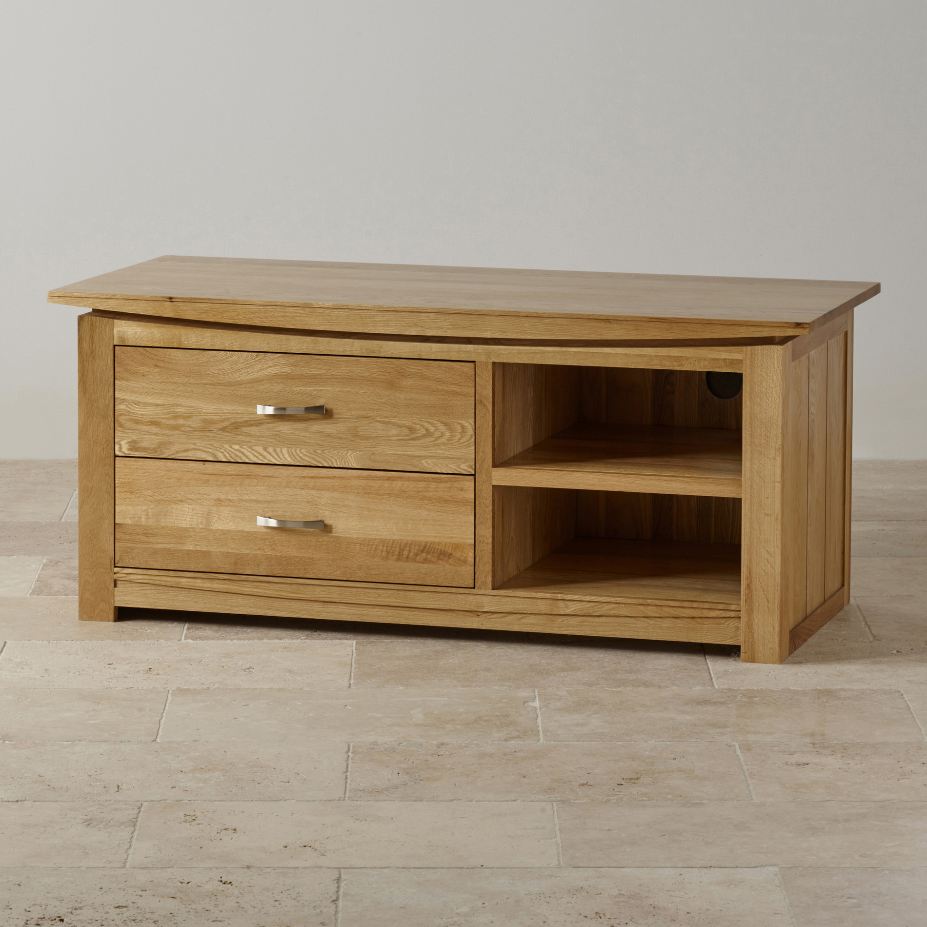 Tokyo Natural Solid Oak Widescreen Tv + Dvd Cabinet For Famous Bromley Extra Wide Oak Tv Stands (View 15 of 25)