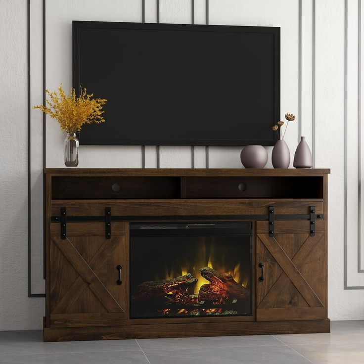"""Totally Tv Stands For Tvs Up To 65"""" Pertaining To Widely Used Pullman Tv Stand For Tvs Up To 65"""" With Electric Fireplace (View 13 of 25)"""