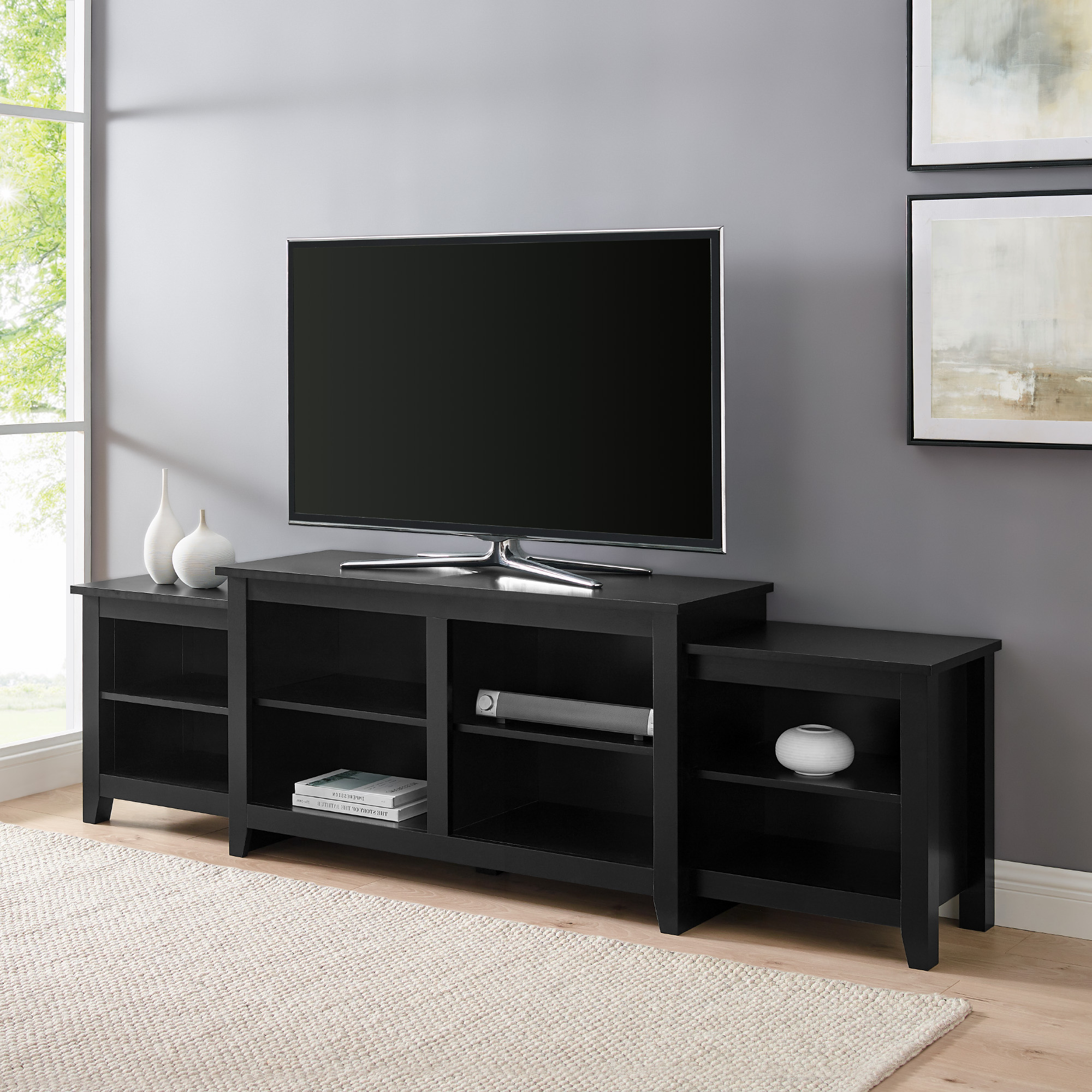 """Trendy Ailiana Tv Stands For Tvs Up To 88"""" Within Manor Park Transitional Farmhouse Tv Stand For Tvs Up To (View 9 of 25)"""