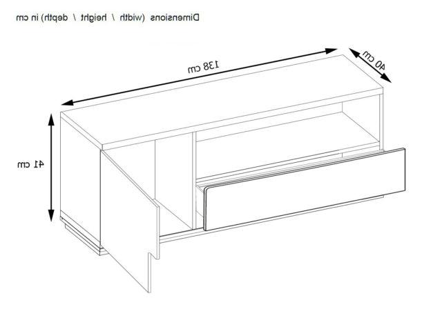 Trendy Birlea Edgeware Tv Entertainment Unit White & Grey Gloss Regarding Edgeware Tv Stands (View 23 of 25)