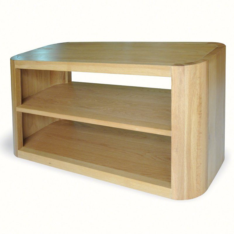 """Trendy Bohutice Solid Wood Tv Stand For Tvs Up To 42"""" (with Inside Bromley Oak Tv Stands (View 20 of 25)"""