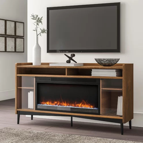 """Trendy Chicago Tv Stands For Tvs Up To 70"""" With Fireplace Included Inside Gutierrez Tv Stand For Tvs Up To 70"""" With Fireplace (View 15 of 25)"""