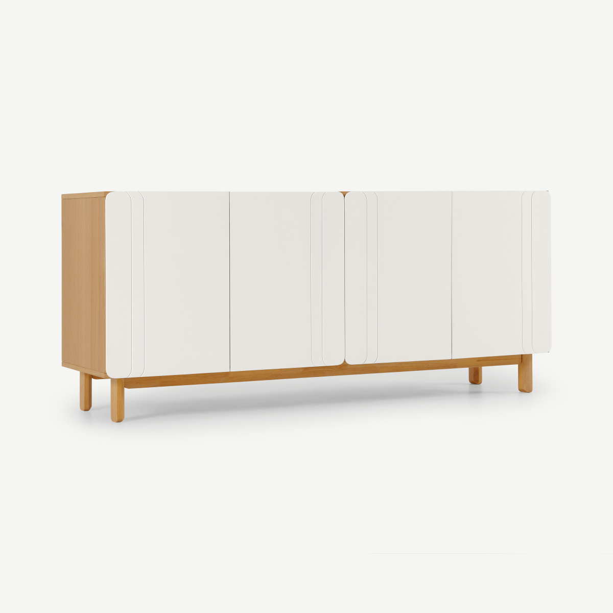 Trendy Compton Ivory Extra Wide Tv Stands With Asuna Wide Sideboard, Oak & Ivory White (View 21 of 25)