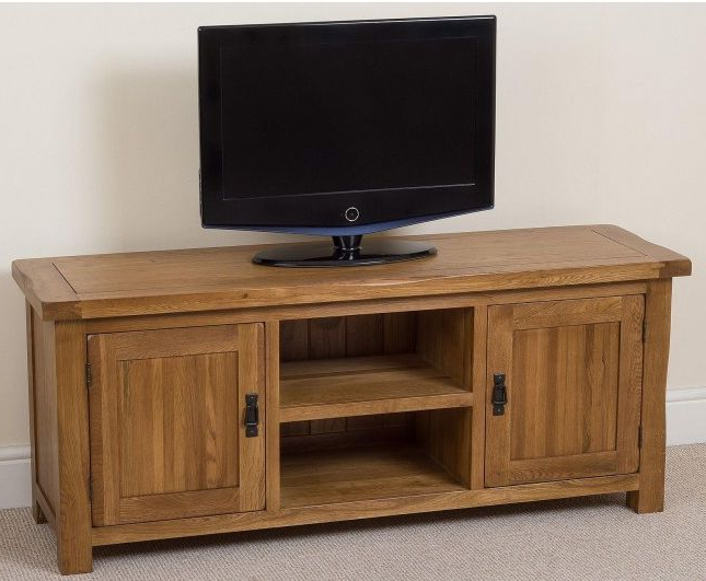 Trendy Cotswold Rustic Solid Oak Widescreen #tv #cabinet Only £ For Cotswold Cream Tv Stands (View 1 of 10)